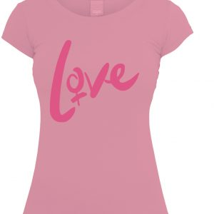 plain ladies tee pink